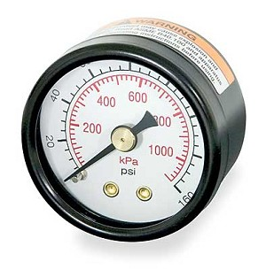 160 PSI Pressure Gauge For Micromist